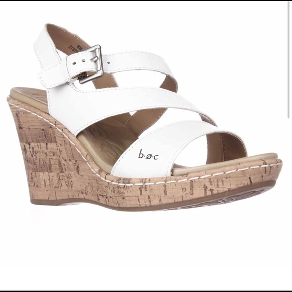 74b20c30bf Born Shoes   Boc Concept Schirra White Wedge Sandals   Poshmark